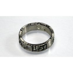 Himber Ring - Symbols Wedding Band (Silver)