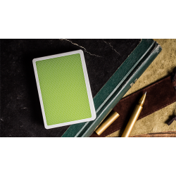 Steel Green Playing Cards (V2 Edition) by Bocopo